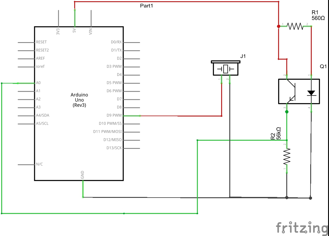 How To Use Photo Interrupters With Your Arduino Z Hut The Schematic Of Darkactivated Switch Circuit We Will Build Is Parts You Need