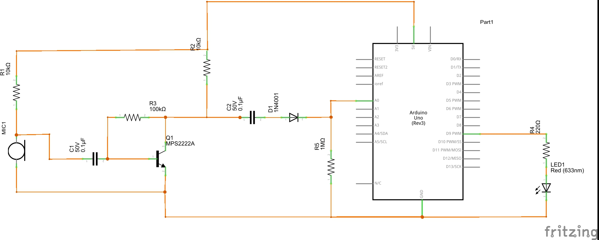 Arduino One Transistor Sound Detector Z Hut Simple Moisture Meter By 2n2222 Electronic Projects Circuits Now That You Have Built The Circuit Lets See It In Action Copy And Past Code Below Into Your Ide Int Led9 Void Setup Serialbegin9600