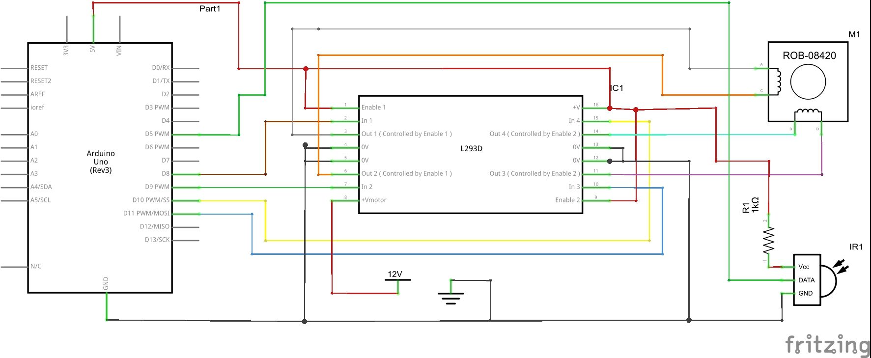 Arduino Stepper Motor Control Circuit Diagram T Html Http Www Circuitstoday Com Controller Infrared Ir Remote