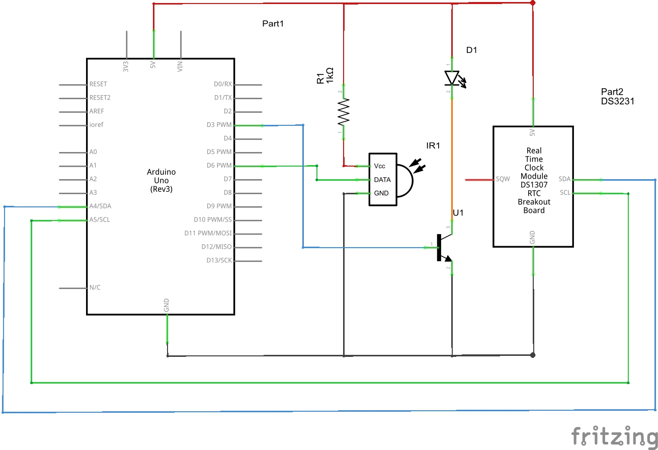 Arduino Use Ds3231 Clocks Alarm To Activate Any Infrared Circuitphotointerrupter Module Controlcircuit Circuit Controllable Devise