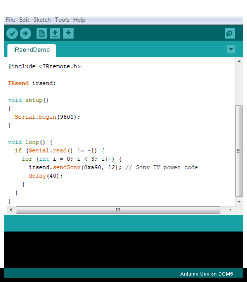 IRsendDemo Arduino 1.6.5