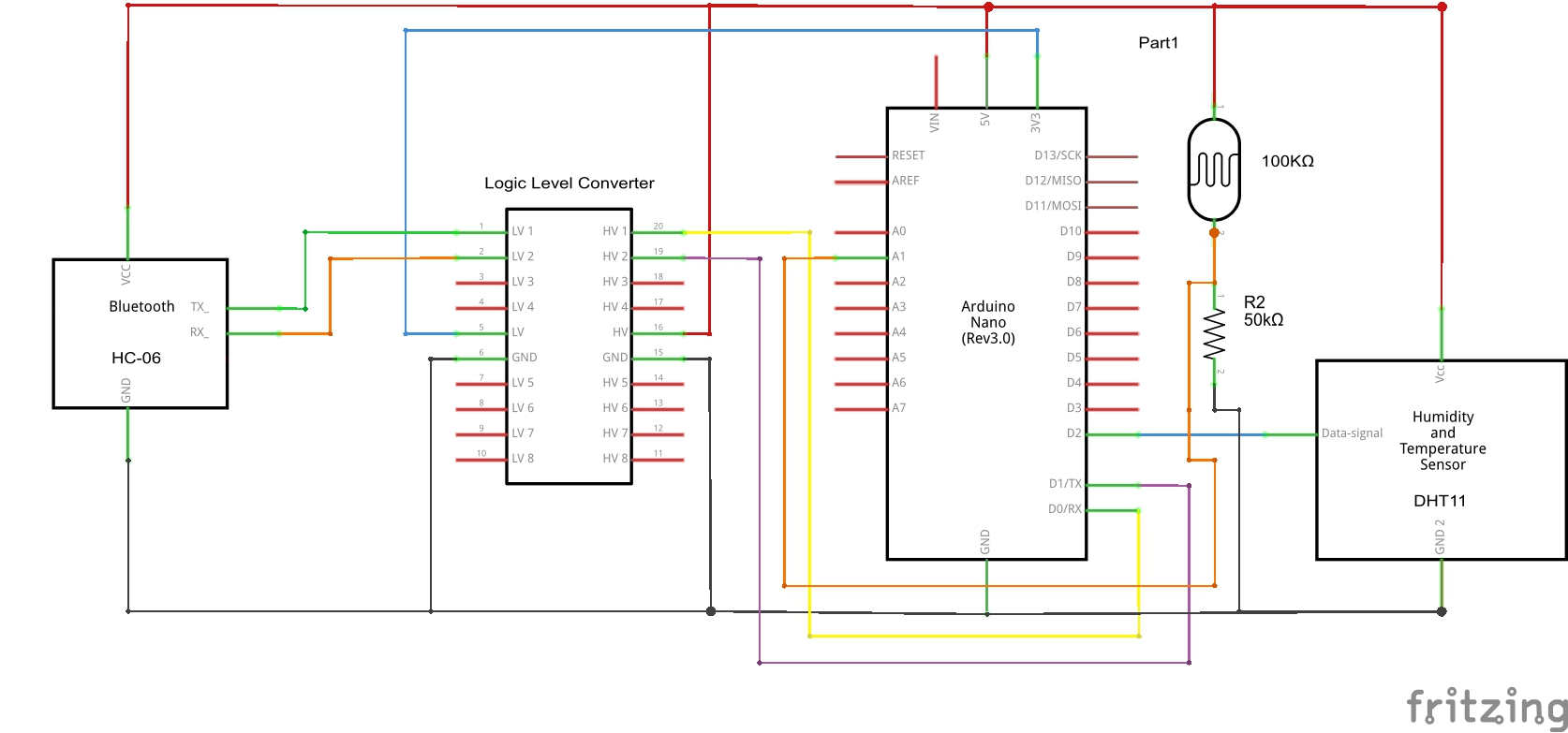 How To Receive Multiple Sensor Readings From Your Arduino Into Photoresistor And Led Experiment With Tutorial 11 Dht11 Schem
