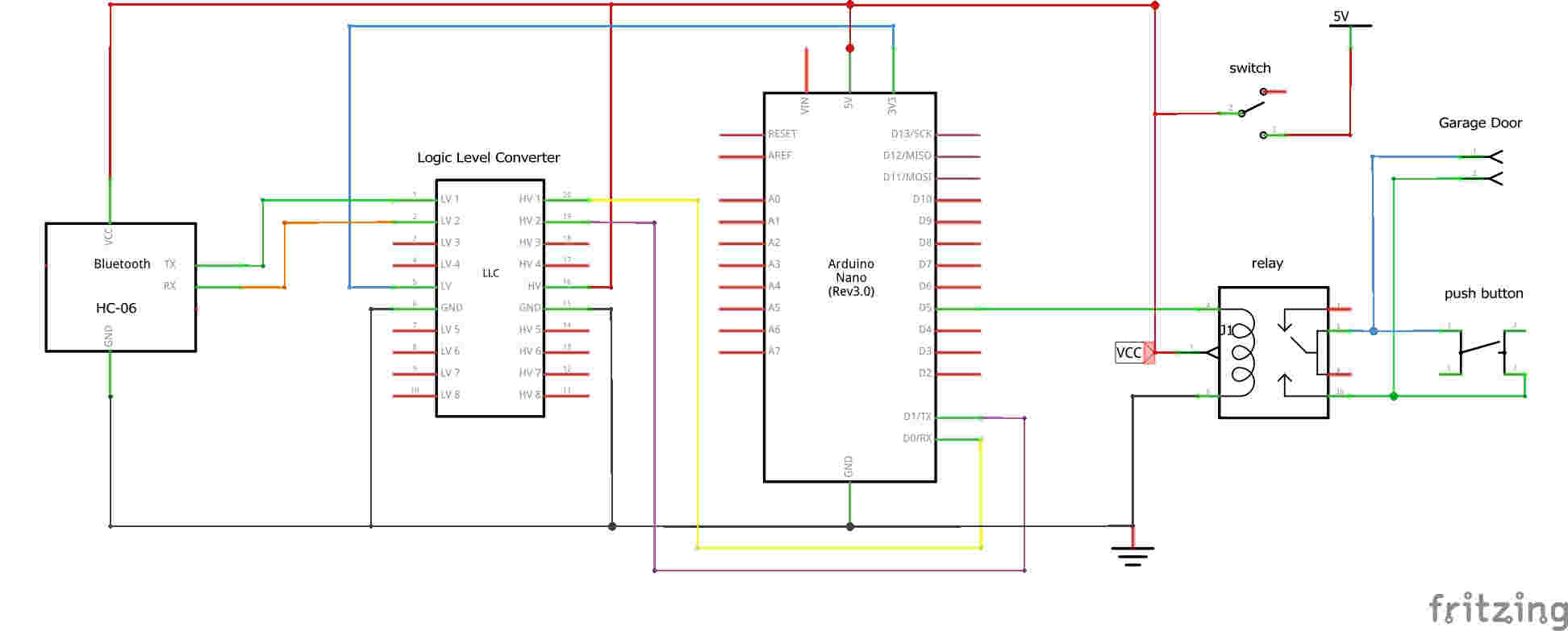 How To Bluetooth Control Your Garage Door With A Arduino And Smart The Schematic Of Darkactivated Switch Circuit We Will Build Is
